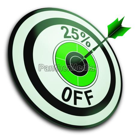 25 prozent weg zeigt verringerung des