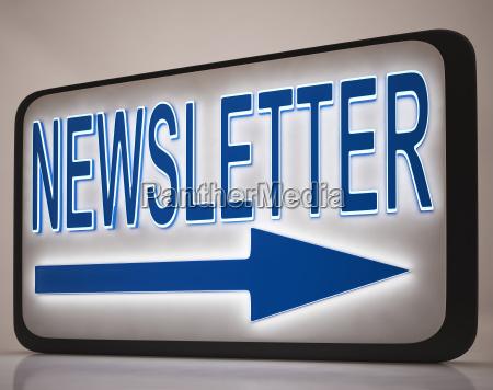 newsletter zeichen mit nachrichten mails
