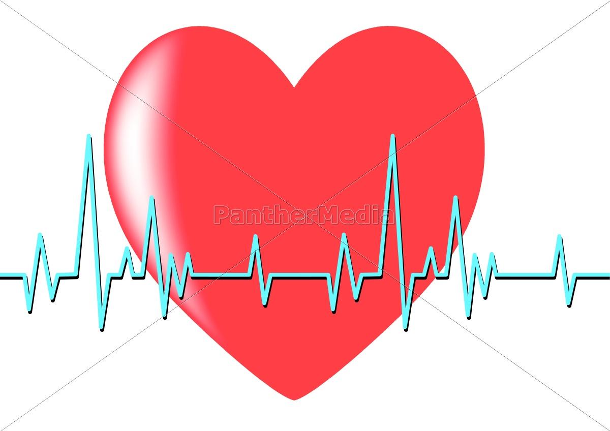 Herz auf der Linie