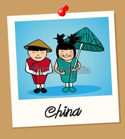 china reist polaroid menschen an