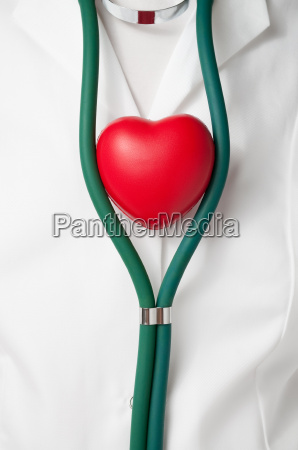 doctor with red heart