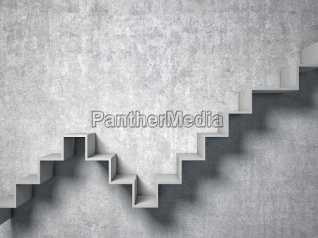 3d abstract stair