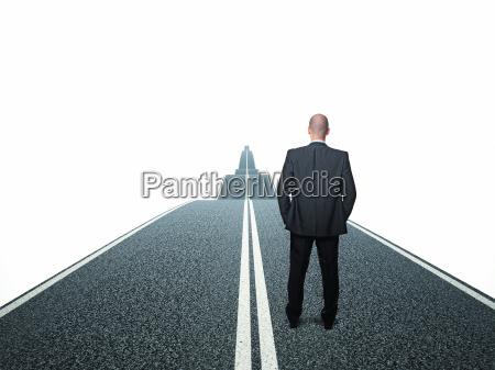 man on way