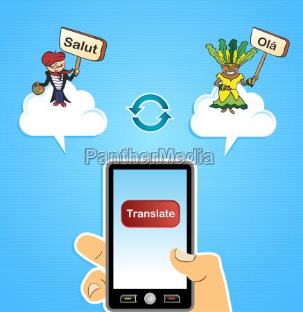 mobile web translate app concept