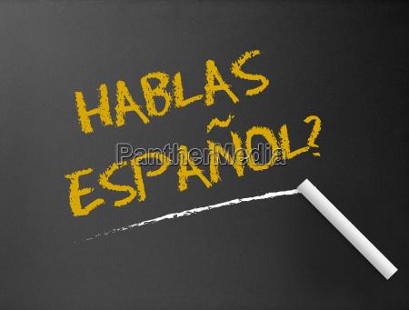 tafel hablas espanol