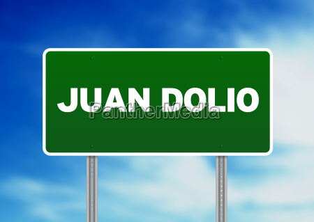 green road sign juan dolio