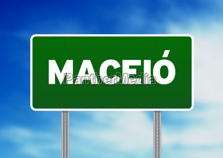 green road sign maceio brazil