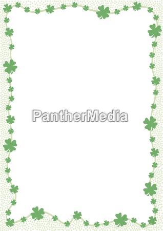 rand aus gruenen kleeblaettern isolierte