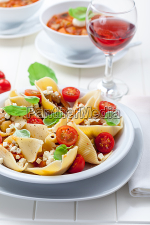 pasta with a tomato bolognese beef
