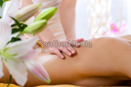 wellness woman receiving back massage