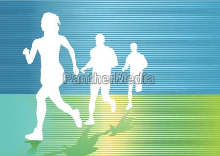 dauerlauf und joggen