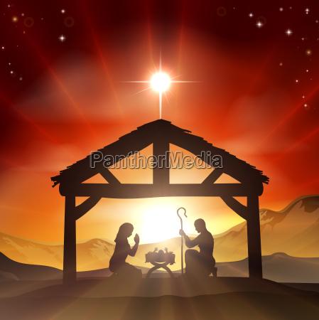 nativity christian weihnachtsszene