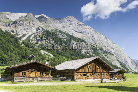 typical huts in austrian apls