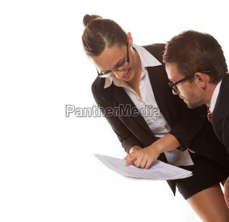 weiblich zusammenarbeit deal geschaeft business geschaeftsleben