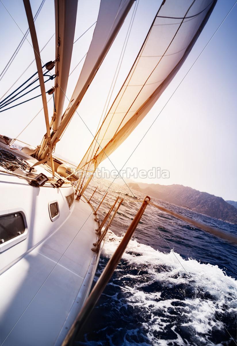 luxusyacht, in, aktion - 9679842