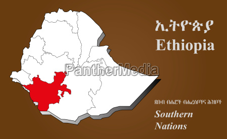 AEthiopien suedliche nationen hervorgehoben