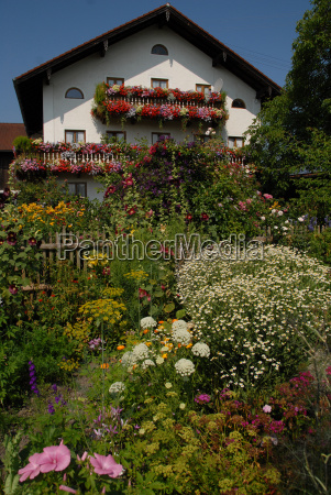 farmhouse with flowers