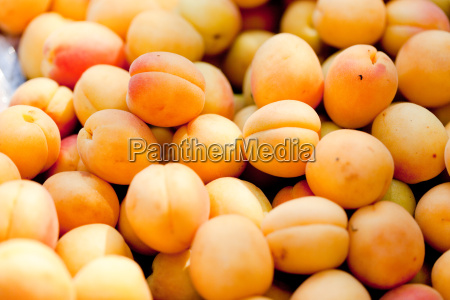 fresh healthy peachapes apricots on the