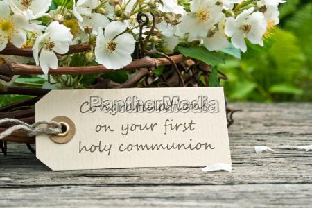 congratulate congratulations communion holy communion first