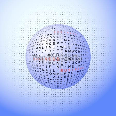 abstract background business words