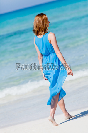 young attractive woman in summer at