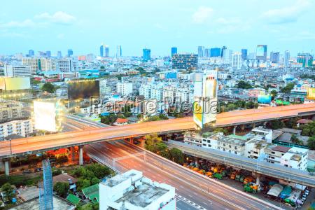 luftaufnahme des bangkok highway