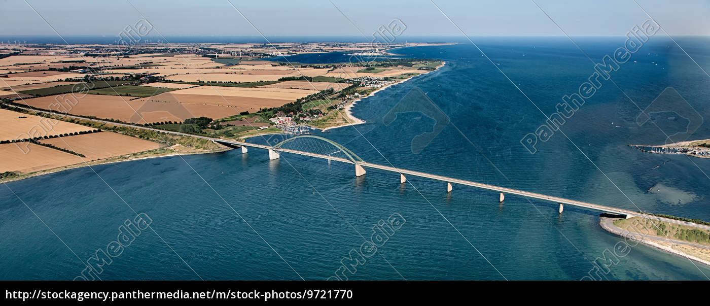 fehmarnsundbrücke, aus, der, luft - 9721770