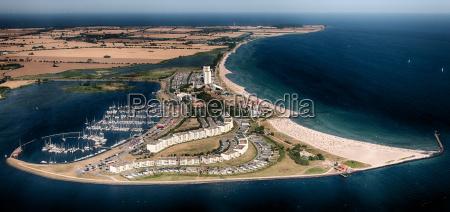 fehmarn south beach aerial