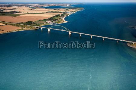 fehmarnsund bridge fehmarn aerial