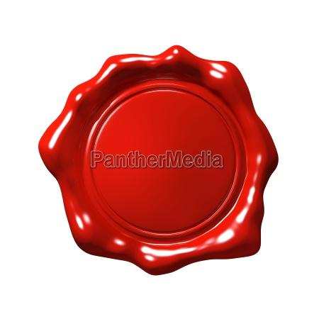 red wachs siegel 4 isolierte