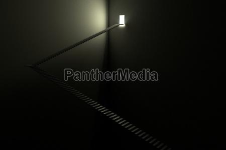 stairway licht in der dunkelheit