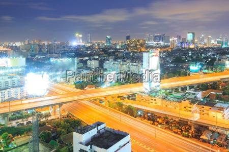 bangkok autobahn in die innenstadt