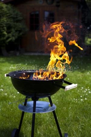 feuer heisse grillen