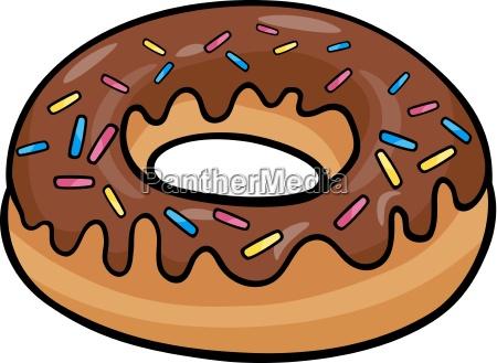 donut kuchen cartoon abbildung