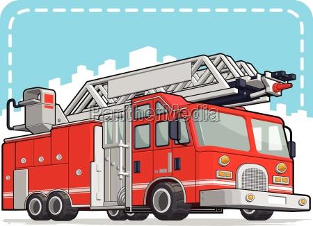 red fire truck oder fire engine