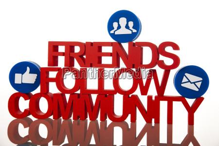 kommunikation internetkonzept social media