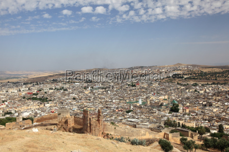 view over the old medina of