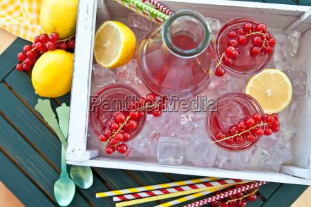 hausgemachte limonade mit johannisbeeren