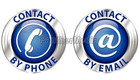 kontakt symbol
