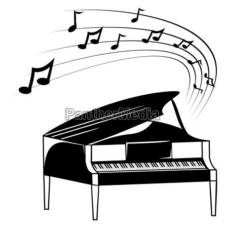 klavier und musiknoten