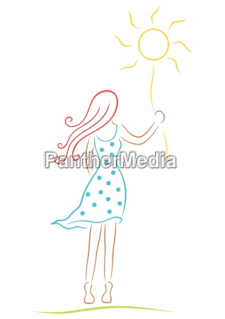 woman with sun