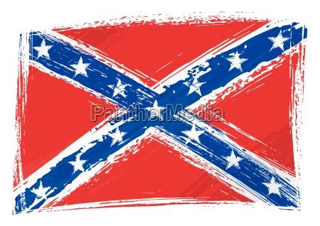 grunge flagge der konfoederierten