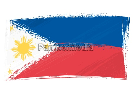 grunge philippinen flagge