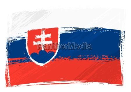 grunge slowakei flagge