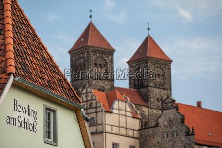 castle stiftskirche welterbestadt quedlinburg