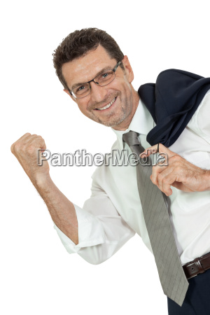 adult businessman full happy joy