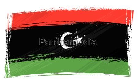 grunge libyen flag