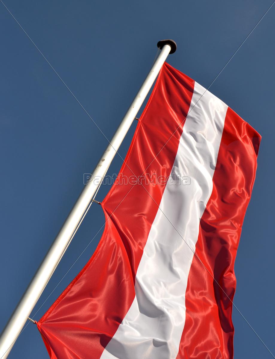 österreichische Fahne Lizenzfreies Foto 9829636 Bildagentur