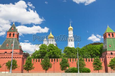 mauer und kathedralen des moskauer kreml