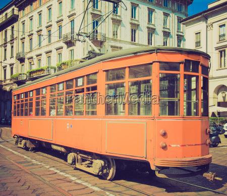 vintage tram milan